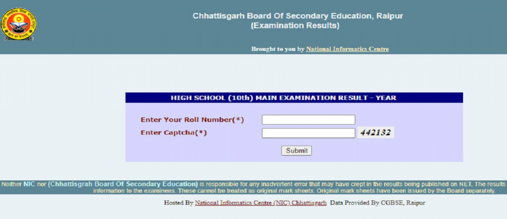 CGBSE 10th 12th Result 2020