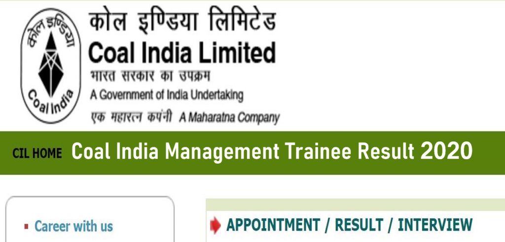 Coal India Ltd. Management Trainee Result (Out) 2020