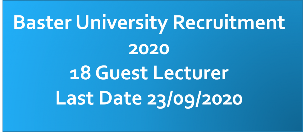 BVVJDP Jagdalpur Recruitment 2020